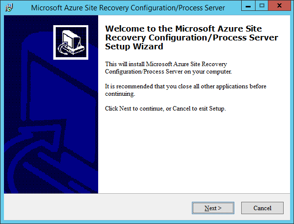 Azure Site Recovery Config Server VM Wizard