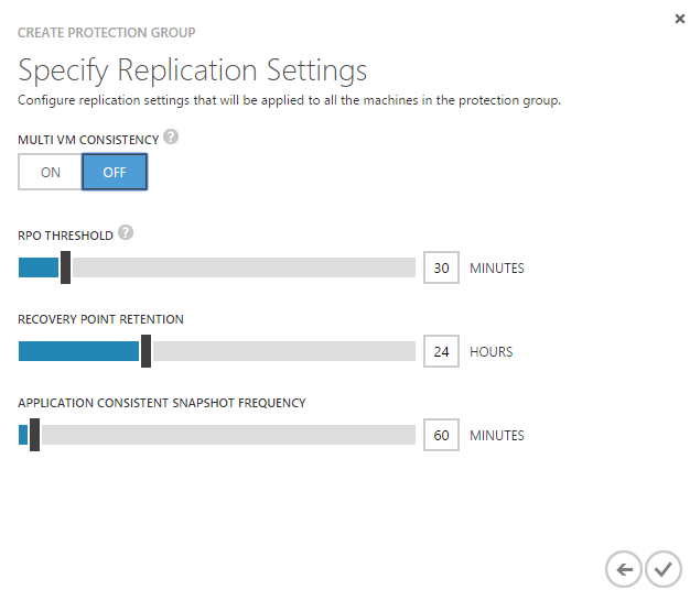 ASR Protection Group Replication Settings