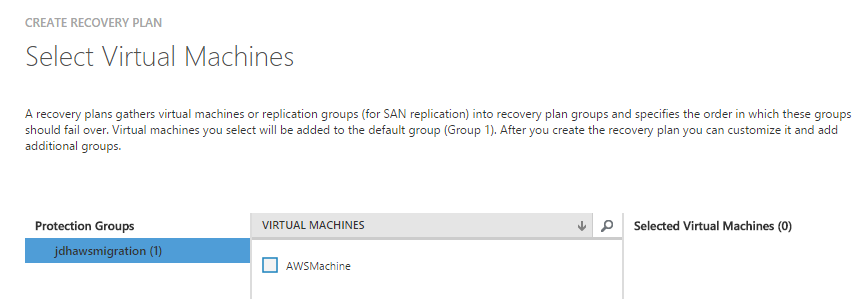 ASR Recovery Plan Machines