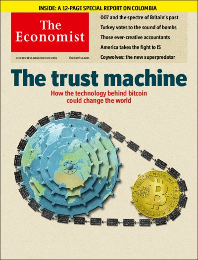 The Economist blockchain cover